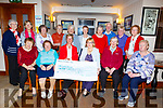The Strand Road Whist Drive raised &euro;400 and the cheque was presented to the Palliative Care Unit, UHK on Thursday night in Kerins O&rsquo;Rahillys Clubhouse.<br /> Seated l-r, Nora Sweeney, Kathleen Hannafin, Maura Sullivan (Treasurer of Kerry Hospice), Nora O&rsquo;Mahoney (Chairperson of the Whist Drive), Kate Griffin and Liz Scanlon.<br /> Back l-r, Margaret Murphy, Ina Mulhall, Pauline Martin, Noreen O&rsquo;Keeffe, Breda Moynihan, Mary Doolan, Carmel Hobbert, Brendan Nolan, Sheila Lavin and Kathleen Mason.