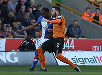 Blackburn Rovers' Ryan Nyambe and Wolverhampton Wanderers' Matt Doherty<br /> <br /> Photographer Rachel Holborn/CameraSport<br /> <br /> The EFL Sky Bet Championship - Wolverhampton Wanderers v Blackburn Rovers - Saturday 22nd April 2017 - Molineux - Wolverhampton<br /> <br /> World Copyright &copy; 2017 CameraSport. All rights reserved. 43 Linden Ave. Countesthorpe. Leicester. England. LE8 5PG - Tel: +44 (0) 116 277 4147 - admin@camerasport.com - www.camerasport.com