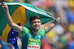 Petrucio Ferreira dos Santos (BRA), <br /> SEPTEMBER 11, 2016 - Athletics : <br /> Men's 100m T47 Final <br /> at Olympic Stadium<br /> during the Rio 2016 Paralympic Games in Rio de Janeiro, Brazil.<br /> (Photo by AFLO SPORT)
