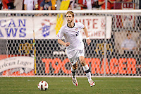 Clarence Goodson (21) of the United States (USA). The men's national teams of the United States (USA) and Colombia (COL) played to a 0-0 tie during an international friendly at PPL Park in Chester, PA, on October 12, 2010.