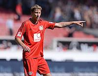 Fussball  1. Bundesliga  Saison 2013/2014  2. Spieltag VfB Stuttgart - Bayer Leverkusen     17.08.2013 Stefan Kiessling (Bayer 04 Leverkusen) zeigt
