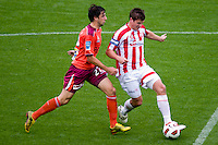 MELBOURNE, AUSTRALIA - NOVEMBER 14: Michael Marrone of the Heart controls the ball during the round 14 A-League match between the Melbourne Heart and Brisbane Roar at AAMI Park on November 14, 2010 in Melbourne, Australia (Photo by Sydney Low / Asterisk Images)