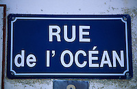 """Europe/France/Bretagne/29/Finistère/Lechiagat: Détail plaque de rue """"Rue de l'Océan"""""""