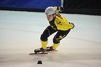 SHORTTRACK: AMSTERDAM: 04-01-2014, Jaap Edenbaan, NK Shorttrack, Prominenten Relay, Team SKATE4AIR, Anke Jannie Landman, ©foto Martin de Jong