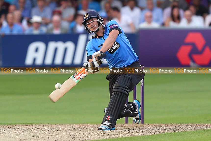 Luke Wright hits six runs for Sussex - Essex Eagles vs Sussex Sharks - NatWest T20 Blast Cricket at the Essex County Ground, Chelmsford, Essex - 25/07/14 - MANDATORY CREDIT: Gavin Ellis/TGSPHOTO - Self billing applies where appropriate - contact@tgsphoto.co.uk - NO UNPAID USE