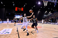 Jordan&rsquo;s Zaid Abbas and New Zealand Tall Blacks&rsquo; Mika Vukona in action during the FIBA World Cup Basketball Qualifier - NZ Tall Blacks v Jordan at Horncastle Arena, Christchurch, New Zealand on Thursday 29 November  2018. <br /> Photo by Masanori Udagawa. <br /> www.photowellington.photoshelter.com