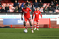 Panutche Camara of Crawley Town during Crawley Town vs Grimsby Town, Sky Bet EFL League 2 Football at Broadfield Stadium on 9th March 2019