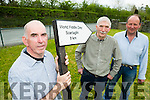 All roads lead to Scartaglen for the concert for World Fiddle day in Scartaglen Heritage Centre on Sat urday 21st May l-r:  PJ Teahan, Denis O'Connor and jim Culloty