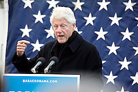 Bill Clinton speaks at an Obama