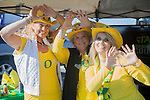 Uiversity of Oregon Alumni Cheryl Gernand and Meredith Robertson and friend Kathy Krauszer, tailgate before the Fiesta Bowl, thursday, Jan. 3, 2013. ..Tribune Photo: Meg Williams ..1-3-12, 2013, DUCKS, Glendale, Kansas State, Phoenix, U OF O, University of Phoenix stadium, Fiesta bowl, football, tailgating, University of Oregon