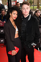 Vick Hope and Roman Kemp<br /> arriving for TRIC Awards 2018 at the Grosvenor House Hotel, London<br /> <br /> &copy;Ash Knotek  D3388  13/03/2018