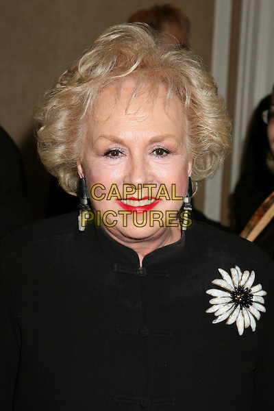 "DORIS ROBERTS.The 16th Annual ""Night of 100 Stars"" Oscar Gala, Beverly Hills, California, USA.March 5th, 2006.Photo: Byron Purvis/AdMedia/Capital Pictures.Ref: BP/ADM.headshot portrait red lipstick flower brooch.www.capitalpictures.com.sales@capitalpictures.com.© Capital Pictures."