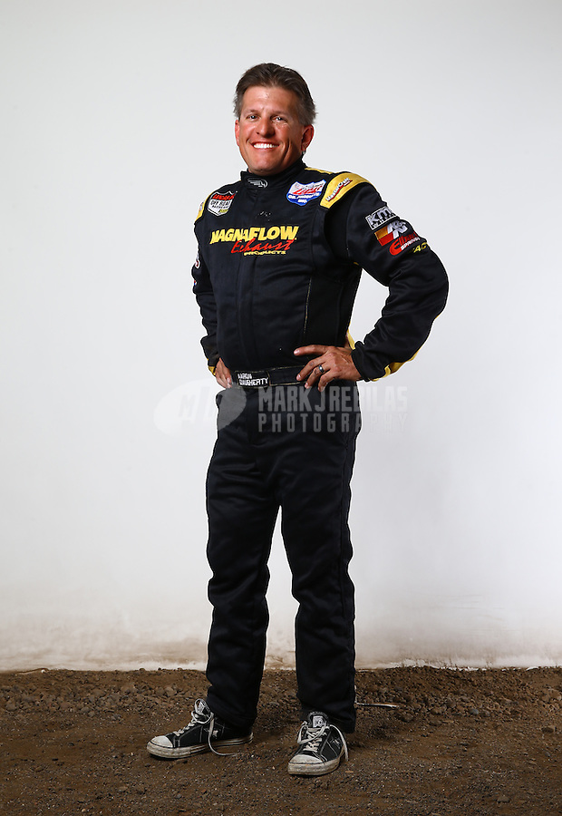 Mar. 21, 2014; Chandler, AZ, USA; LOORRS pro lite driver Aaron Daugherty poses for a portrait prior to round one at Wild Horse Motorsports Park. Mandatory Credit: Mark J. Rebilas-USA TODAY Sports