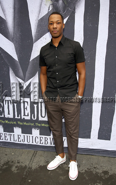"""Corey Hawkins attends the Broadway Opening Night Performance for """"Beetlejuice"""" at The Wintergarden on April 25, 2019  in New York City."""