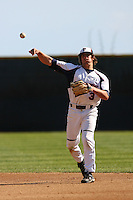 March 6 2009: Bryce Mendonca of the Pepperdine Waves in action against the Evansville Purple Aces at Eddy D. Field Stadium in Malibu,CA.  Photo by Larry Goren/Four Seam Images