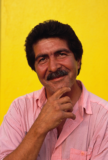Portrait of man, model released, Jayuya, Puerto Rico, West Indies
