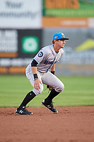 Hudson Valley Renegades shortstop Ford Proctor (7) during a game against the Connecticut Tigers on August 20, 2018 at Dodd Stadium in Norwich, Connecticut.  Hudson Valley defeated Connecticut 3-1.  (Mike Janes/Four Seam Images)
