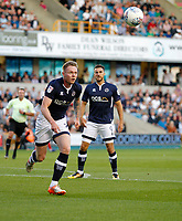 Millwall's Aiden O'Brien has eye on the ball during the Sky Bet Championship match between Millwall and Ipswich Town at The Den, London, England on 15 August 2017. Photo by Carlton Myrie.