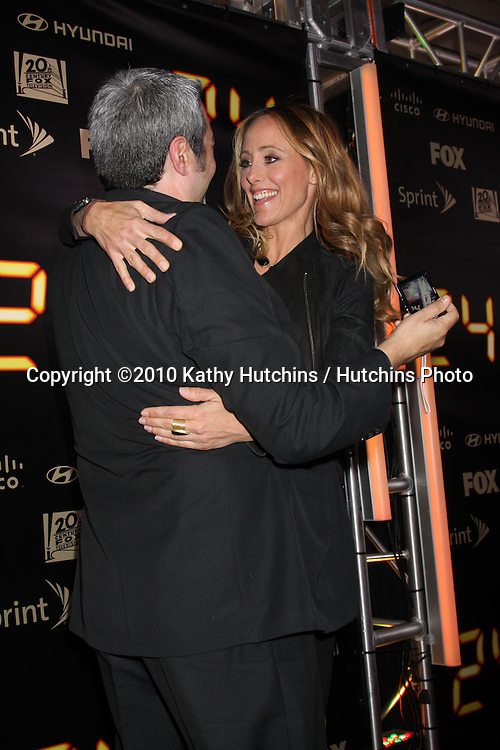 "Jon Cassar & Kim Raver.arrives at the ""24"" Series Finale Party .Boulevard3.Los Angeles, CA.April 30, 2010.©2010 Kathy Hutchins / Hutchins Photo..."