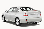 Subaru Legacy 2008 GT sedan Rear three quarter view Stock Photo