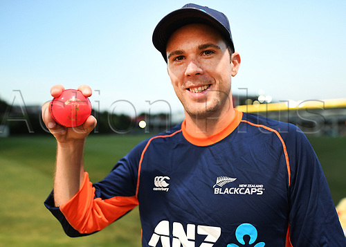 20th March 2018, Eden Park, Auckland, New Zealand;  Todd Astle.<br /> New Zealand Blackcaps twilight training session ahead of the 1st day/night test match against England