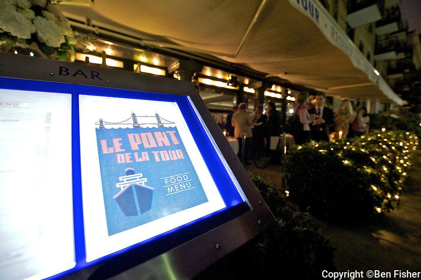 Champagne Lanson Winter Terrace at Le Pont de la Tour