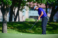 Fabian Gomez (ARG) watches his putt on 14 during the round 1 of the Dean &amp; Deluca Invitational, at The Colonial, Ft. Worth, Texas, USA. 5/25/2017.<br /> Picture: Golffile | Ken Murray<br /> <br /> <br /> All photo usage must carry mandatory copyright credit (&copy; Golffile | Ken Murray)