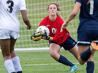 NWA Democrat-Gazette/JASON IVESTER --05/22/2015--<br /> Little Rock Christian keeper Olivia Allen makes a save on a Pulaski Academy shot attempt in the 5A championship game on Friday, May 22, 2015, at Razorback Field in Fayetteville.