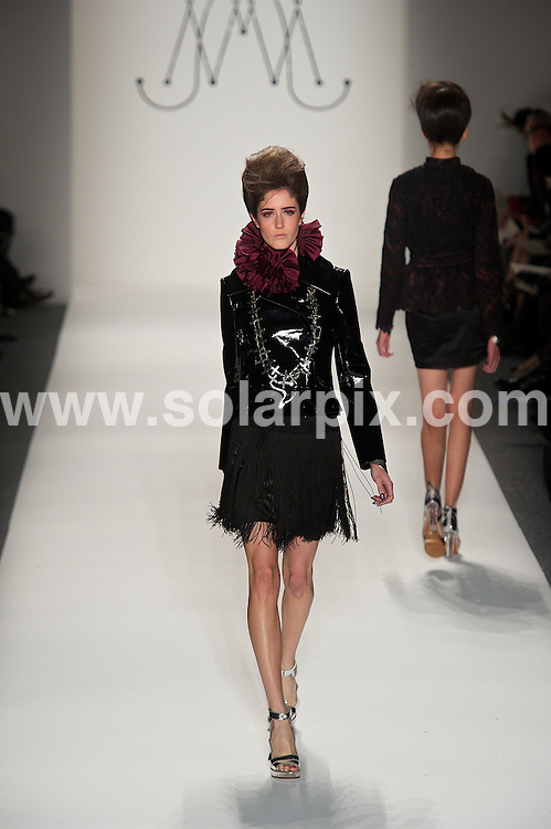 **ALL ROUND PICTURES FROM SOLARPIX.COM**                                             **SYNDICATION RIGHTS FOR UK, AUSTRALIA, DENMARK, PORTUGAL, S. AFRICA, SPAIN & DUBAI (U.A.E) & ASIA (EXCLUDING JAPAN) ONLY**                                                                                  Caption: Mercedes-Benz Fashion Week Fall 2011 - Backstage at The Rebecca Minkoff Fall 2011 MBFW hosted by FIJI Water at The Theatre at Lincoln Center on February 11, 2011 in New York City  USA                                                                              This pic:   Model                                                                                           JOB REF: 12782       PHZ /Miller      DATE:11.02.2011                                                            **MUST CREDIT SOLARPIX.COM OR DOUBLE FEE WILL BE CHARGED**                                                                      **MUST AGREE FEE BEFORE ONLINE USAGE**                               **CALL US ON: +34 952 811 768 or LOW RATE FROM UK 0844 617 7637**