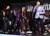 """LAS VEGAS - JUNE 22:  Jermell Charlo at Fox Sports """"PBC on Fox Fight Night"""" Weigh-In at Mandalay Bay Resort & Casino on June 22, 2019 in Las Vegas, Nevada. (Photo by Frank Micelotta/Fox/PictureGroup)"""