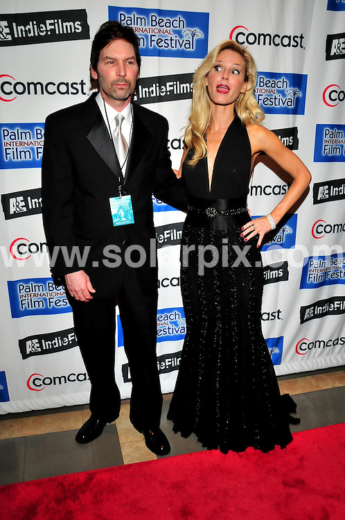 **ALL ROUND PICTURES FROM SOLARPIX.COM**.**SYNDICATION RIGHTS FOR UK, SPAIN, PORTUGAL, AUSTRALIA, S.AFRICA & DUBAI (U.A.E) ONLY**.The 13th Annual Palm Beach International Film Festival Grand Gala Awards Ceremony Red Carpet at the Boca Raton Resort and Club in Boca Raton, Florida in the USA. .This pic:Vanessa Branch,Doug Delaney.JOB REF:6125-PHZ/Jay  Kravetz         DATE:12_04_08 .**MUST CREDIT SOLARPIX.COM OR DOUBLE FEE WILL BE CHARGED* *UNDER NO CIRCUMSTANCES IS THIS IMAGE TO BE REPRODUCED FOR ANY ONLINE EDITION WITHOUT PRIOR PERMISSION*