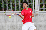 Japan's Yunosuke Tanaka during Junior Davis Cup 2015 match. September  30, 2015.(ALTERPHOTOS/Acero)