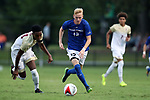 ELON, NC - SEPTEMBER 02: Presbyterian's Kellan O'Hara. The Elon University Phoenix hosted the Presbyterian College Blue Hose on September 2, 2017 at Rudd Field in Elon, NC in a Division I college soccer game. Elon won the game 2-0.
