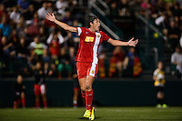 Western New York Flash forward Abby Wambach (20). The Portland Thorns defeated the Western New York Flash 2-0 during the National Women's Soccer League (NWSL) finals at Sahlen's Stadium in Rochester, NY, on August 31, 2013.