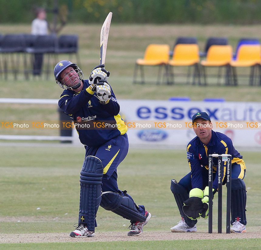 Keith Parsons (captain), Unicorns CC holes out to mid wicket - Unicorns vs Glamorgan CCC - Yorkshire Bank YB40 Cricket at Garon Park, Southend-on-Sea - 09/06/13 - MANDATORY CREDIT: Ray Lawrence/TGSPHOTO - Self billing applies where appropriate - 0845 094 6026 - contact@tgsphoto.co.uk - NO UNPAID USE