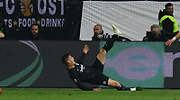 celebrate the goal, Torjubel zum 1:0 von Luka Jovic (Eintracht Frankfurt) - 02.05.2019: Eintracht Frankfurt vs. Chelsea FC London, UEFA Europa League, Halbfinale Hinspiel, Commerzbank Arena DISCLAIMER: DFL regulations prohibit any use of photographs as image sequences and/or quasi-video.