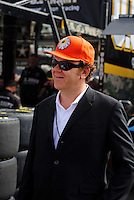 Oct. 10, 2009; Fontana, CA, USA; Movie actor John C. Reilly during practice for the Pepsi 500 at Auto Club Speedway. Mandatory Credit: Mark J. Rebilas-