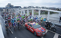 the peloton rides out of Compi&egrave;gne to move to the official start<br /> <br /> 114th Paris-Roubaix 2016