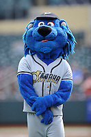 Casey,the mascot of the Omaha Storm Chasers poses prior to the game against the Las Vegas 51s at Werner Park on August 17, 2014 in Omaha, Nebraska. The Storm Chasers  won 4-0.   (Dennis Hubbard/Four Seam Images)