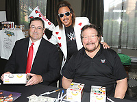 "NEW YORK, NY - NOVEMBER 4: Mike Rotundo, Jimmy Hart and Ted DiBiase from ""Money Inc."" attend the Big Event NY at LaGuardia Plaza Hotel on November 4, 2017 in Queens, New York.  Credit: George Napolitano/MediaPunch /NortePhoto.com"