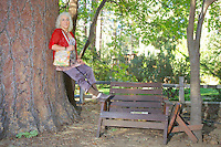 Regina Caron on the grounds of the Idyllwild Area Historical Society
