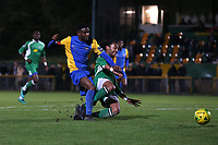 Jonathan Nzengo of Romford goes close during Romford vs Haringey Borough, Bostik League Division 1 North Football at Ship Lane on 8th November 2017