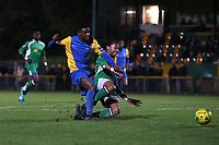 Jonathan Nzengo of Romford goes close during Romford vs Haringey Borough, Bostik League Division 1 North Football at Ship Lane on 8th November 2017