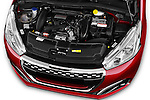 Car Stock 2016 Peugeot 208 GTI 3 Door Hatchback 2WD Engine  high angle detail view