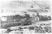 View of Rico with engine house and depot.<br /> RGS  Rico, CO  Taken by Engel, Charles Miller - ca 1911