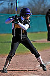 15 April 2009: University at Albany Great Danes outfielder Nicole Kothe, a Junior from Middletown, NY, in action against the University of Vermont Catamounts at Archie Post Field in Burlington, Vermont. The Great Danes swept the Catamounts 2-0 and 12-0 in the afternoon double-header. Mandatory Photo Credit: Ed Wolfstein Photo