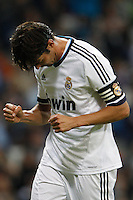 26.09.2012 SPAIN - Real Madrid and Millonarios played  for the 34th Santiago Bernabéu Trophy. The score at was 8-0 with three goals from Kaká, Morata (2), Callejon (2) and Benzema (1). The picture show Ricardo Izecson Kaka (Brazilian midfielder of Real Madrid)