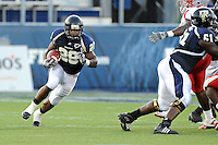 9 October 2010:  FIU running back Darriet Perry (28) carries the ball in the fourth quarter as the FIU Golden Panthers defeated the Western Kentucky Hilltoppers, 28-21, at FIU Stadium in Miami, Florida.