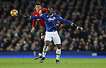 Marcos Rojo of Manchester United and Romelu Lukaku of Everton during the Premier League match at Goodison Park, Liverpool. Picture date: December 4th, 2016.Photo credit should read: Lynne Cameron/Sportimage
