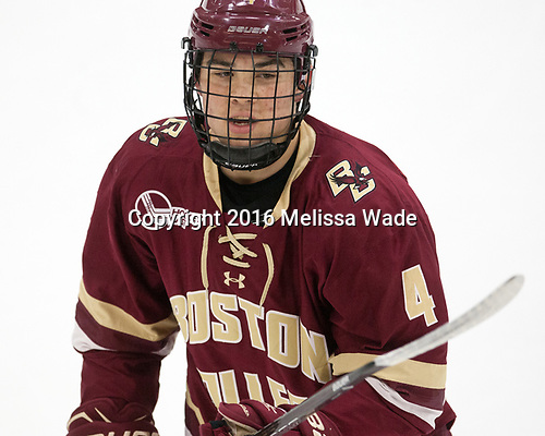 Michael Kim (BC - 4) - The Harvard University Crimson defeated the visiting Boston College Eagles 5-2 on Friday, November 18, 2016, at the Bright-Landry Hockey Center in Boston, Massachusetts.